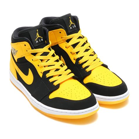 nike air one weiß 楽天市場 nike air 1 mid quot new quot ナイキ エア ジョーダン 1 ミッド black varsity maize white メンズ スニーカー