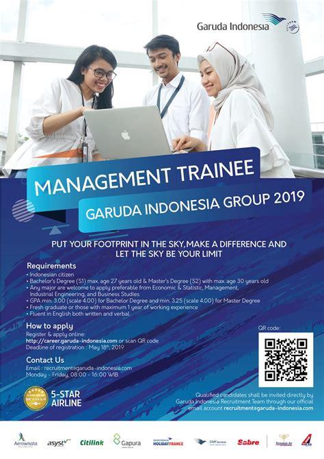 lowongan kerja garuda indonesia management trainee