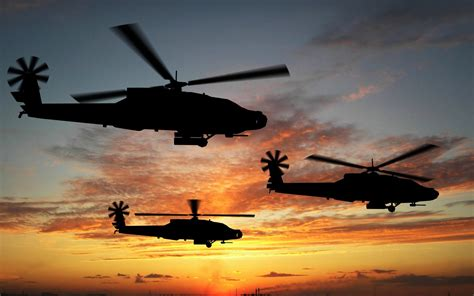 Boeing Apache Attack Helicopters Wallpapers