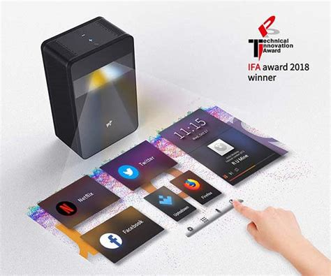puppy cube touchscreen android projector gadgetsin