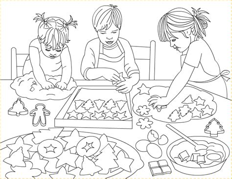 Free coloring pages to print or color online. Nicole's Free Coloring Pages: Christmas cookies ...