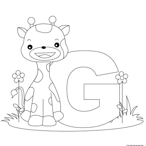 Coloring Letters by Alphabet Letter G For Preschool Activities Worksheetsfree