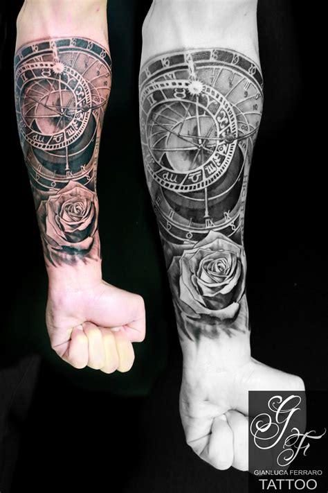 tattootatuagginapolinaplesitalyrealisticgianlucaferraroinkbeautifulclockwatchpraha