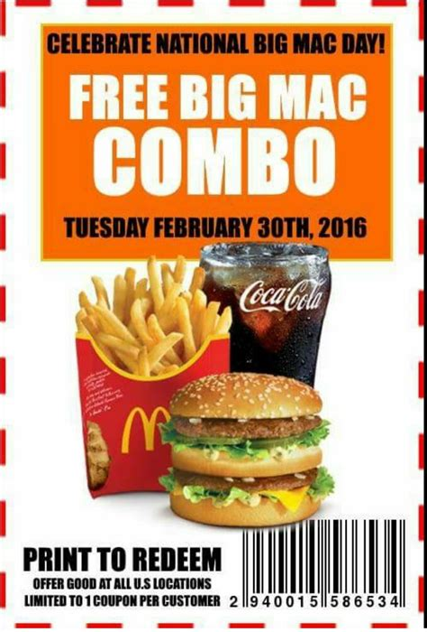 McDoanlds Menu Item Coupons | McDonald's Coupons