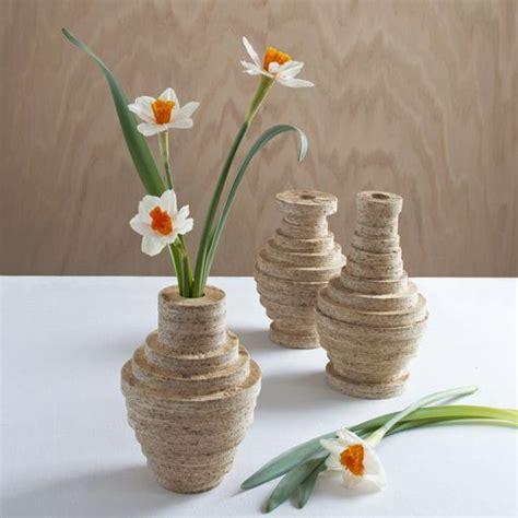 Wooden Flower Vase wood shop smartply stacked vase