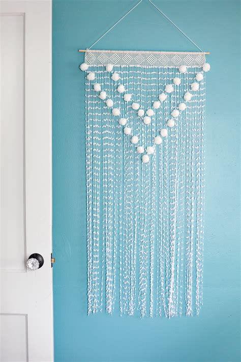 pom pom wall hanging  beautiful mess