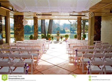 Indoor Wedding Venue Royalty Free Stock Photo