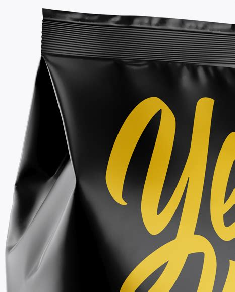 Layered psd easy smart object insertion license: Matte Snack Package Mockup - Half Side View in Bag & Sack ...