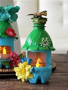 Souvenirs con botellas de plastico recicladas para adornos Manualidades para hacer en casa