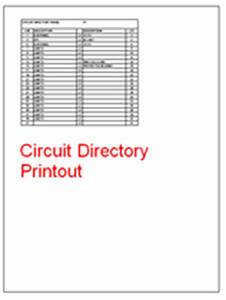 panel schedule software With circuit directory template download
