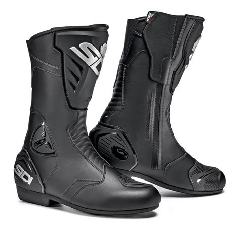 mens black motorcycle riding boots 177 70 sidi mens black rain riding boots 998307