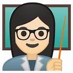 Teacher Icon Emoji Woman Skin Clipart Guru