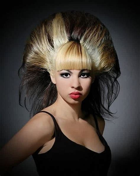 Wild hairstyles with blunt bangs for long straight hair