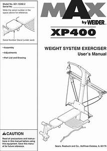 Weider 831153922 User Manual Max By Xp400 Manuals And