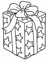 Coloring Christmas Present Pages Presents Wrapped sketch template