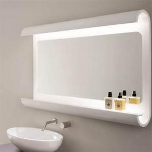 Miroir Étagère Salle De Bain : miroir salle de bain lumineux en 55 designs super modernes ~ Melissatoandfro.com Idées de Décoration
