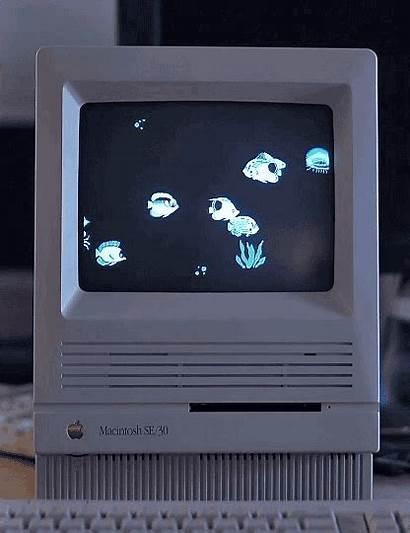 Tech Retro Aesthetic Screensaver Mac Pixel Dark