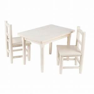 Table Et Chaise Pour Bébé : salon table et chaises pour enfant blanc achat vente table et chaise 3238920634853 cdiscount ~ Farleysfitness.com Idées de Décoration