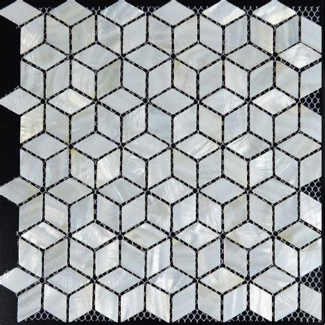 tst of pearl tiles 3d cube white mesh