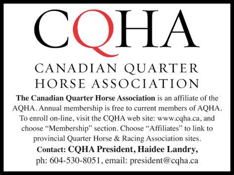 associations equestrian quarter canadian association horse