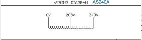 Installation Wiring Diagram For Industri by Transformer Primary 208 Secondary 240 Jefferson 415 0001 012