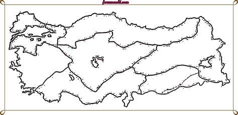 Bölgeleri Gösteren Türkiye Haritası Boyama Resimlere Göre Ara Red