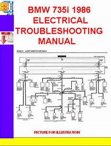 Bmw 735i 1986 Electrical Troubleshooting Manual
