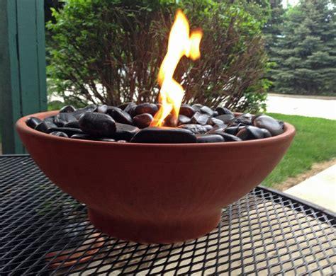diy table top fire pit   black river rocks