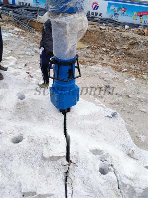 big hydraulic rock splitter  excavator