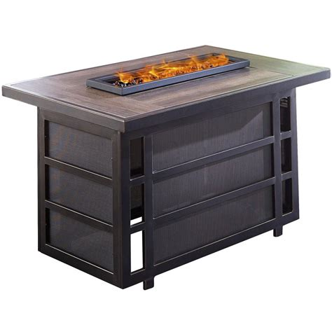 Inspect the burners for debris that could block the air flow. Hanover Chateau Aluminum Outdoor Coffee Table with Fire Pit-CHATEAUFP-REC - The Home Depot
