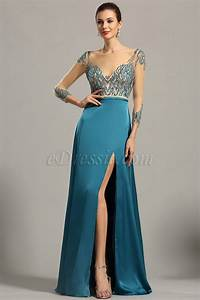 robe longue satin bleue all pictures top With robe de soirée longue france