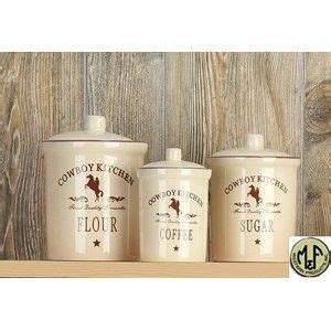 Western Kitchen Canister Sets by M Western Canister Set Cowboy Kitchen Western