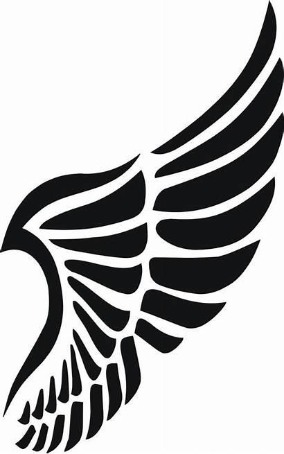 Stencil Stencils Tattoo Vorlagen Wings Silhouette Schablone