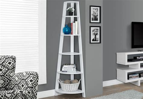 White Etagere Bookcase by I 2496 Bookcase 72 Quot H White Corner Accent Etagere