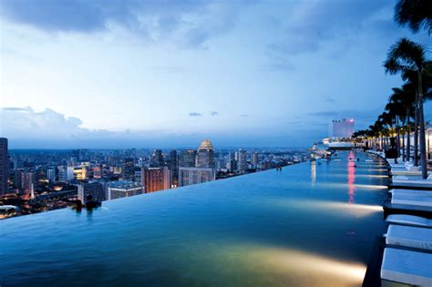 Rooftop Pool Marina Bay Sands Resort Singapore Pic