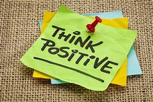 think positive paper ink quote HD wallpaper