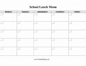 printable school lunch menu template With free school lunch menu templates