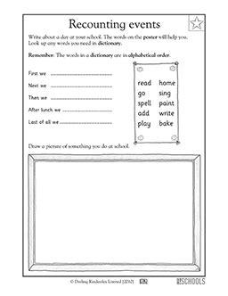 grado ejemplos de escritura la escritura worksheets