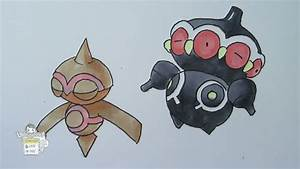 How to draw Pokemon: No. 343 Baltoy, No. 344 Claydol - YouTube