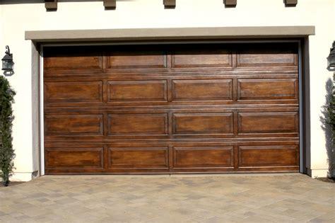 How To Paint A Metal Garage Door by Faux Garage Doors