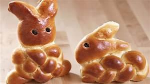 Osterhasen aus Hefeteig flechten Anleitung für Ostern