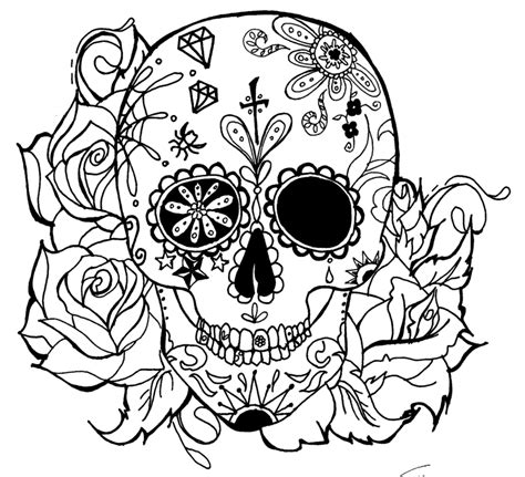 pin  lindsey hardisty  coloring pages skull coloring