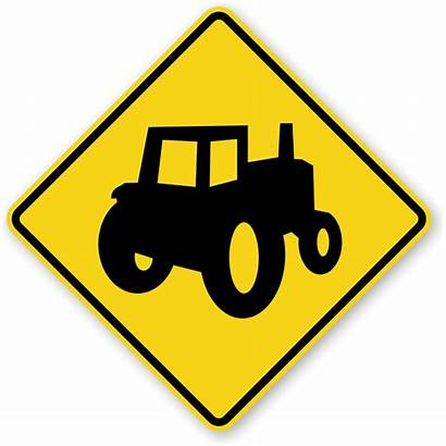 Farm Sign Tractor Signs Machinery Traffic Crossing