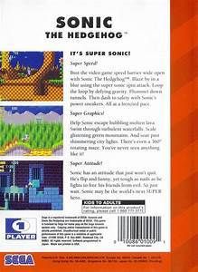 Sonic The Hedgehog Box Shot For Genesis Gamefaqs