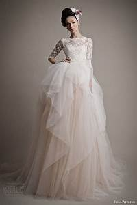ersa atelier spring 2015 wedding dresses wedding inspirasi With pink wedding dresses with sleeves