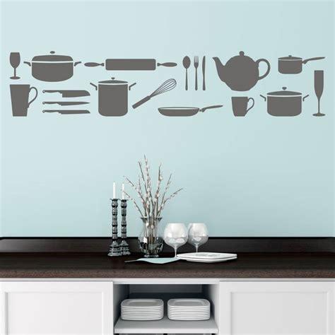 kitchen utensils wall sticker  mirrorin