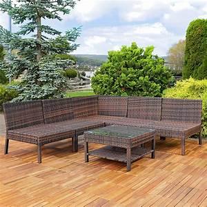 Sitzecke Garten Rattan : sitzecke aus polyrattan inkl auflagen eck sofa garten ~ Lateststills.com Haus und Dekorationen