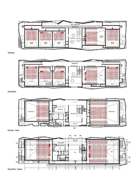 Gallery Of Le Cristal Cinema And Michel Crespin Square  Linéaire A  12  Square Floor Plans