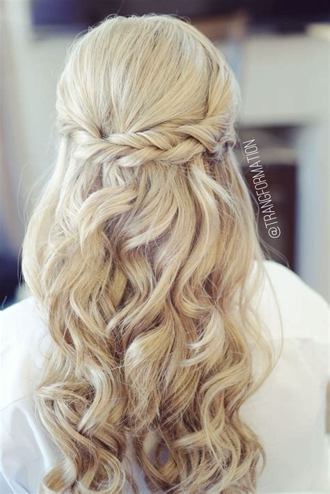 half up half down bridal hair wedding hair bride