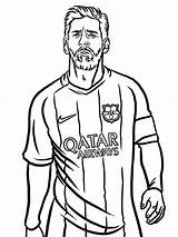 Messi Coloring Lionel Barcelona Drawing Beard sketch template